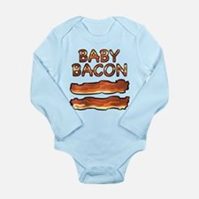 Cute Bacon themed Long Sleeve Infant Bodysuit