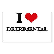 I Love Detrimental Decal
