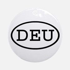 DEU Oval Ornament (Round)