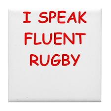 i love rugby Tile Coaster