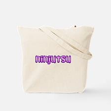 Purple Kunoichi W/ninjutsu Tote Bag