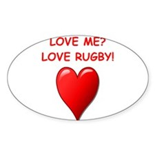 i love rugby Decal