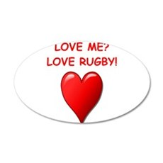 i love rugby Wall Decal
