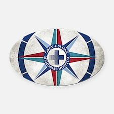 Grey Sloan Memorial Hospital Compa Oval Car Magnet