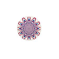 Patriotic Flower Mini Button