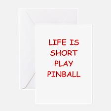 i love pinball Greeting Cards