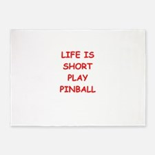 i love pinball 5'x7'Area Rug
