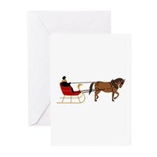 Winter Sleigh Greeting Cards
