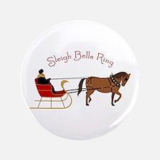 """Sleigh Bells Ring 3.5"""" Button"""