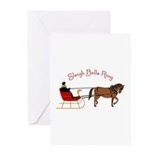 Sleigh Bells Ring Greeting Cards