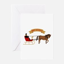 Holiday Sleigh Greeting Cards