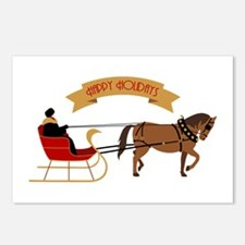 Holiday Sleigh Postcards (Package of 8)