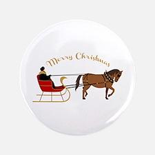 """Christmas Sleigh 3.5"""" Button"""