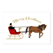 Christmas Sleigh Postcards (Package of 8)