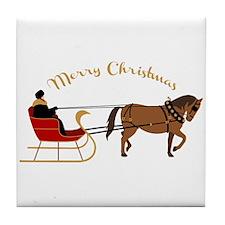 Christmas Sleigh Tile Coaster
