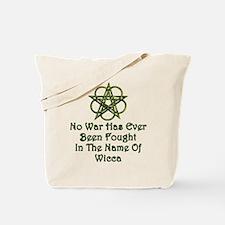 Wicca, No War Tote Bag