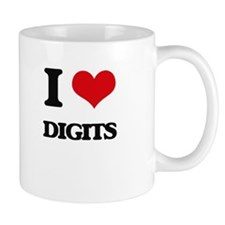 I Love Digits Mugs