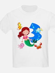 Mermaid 3rd Birthday T-Shirt