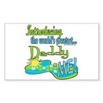Best Daddy Ever Rectangle Sticker