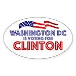 Washington Dc For Hillary Clinton Sticker