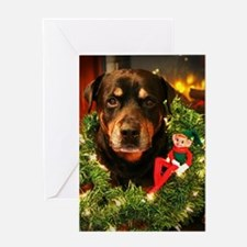 Elf on a Rott Greeting Cards