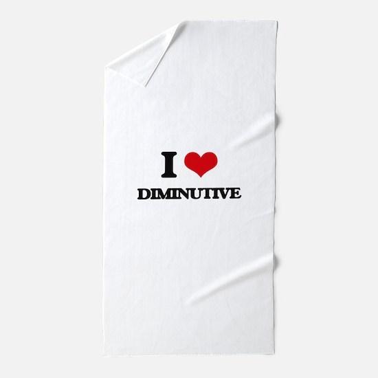 I Love Diminutive Beach Towel