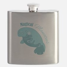 Magical Manatees Flask