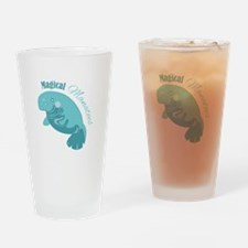 Magical Manatees Drinking Glass