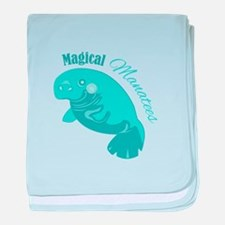 Magical Manatees baby blanket