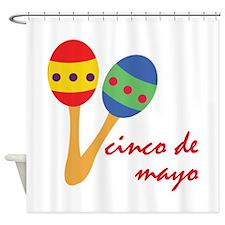 Cinco de Mayo Maracas Shower Curtain