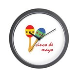 Cinco de mayo Wall Clocks