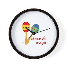 Cinco de Mayo Maracas Wall Clock
