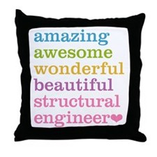 Structural Engineer Throw Pillow