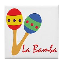 La Bamba Maracas Tile Coaster