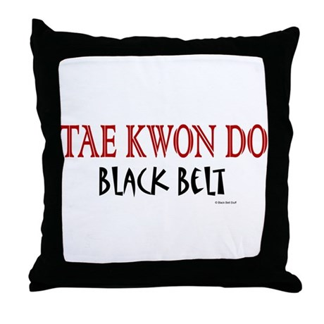 Tae Kwon Do Black Belt 1 Throw Pillow