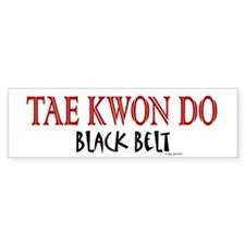 Tae Kwon Do Black Belt 1 Bumper Car Sticker