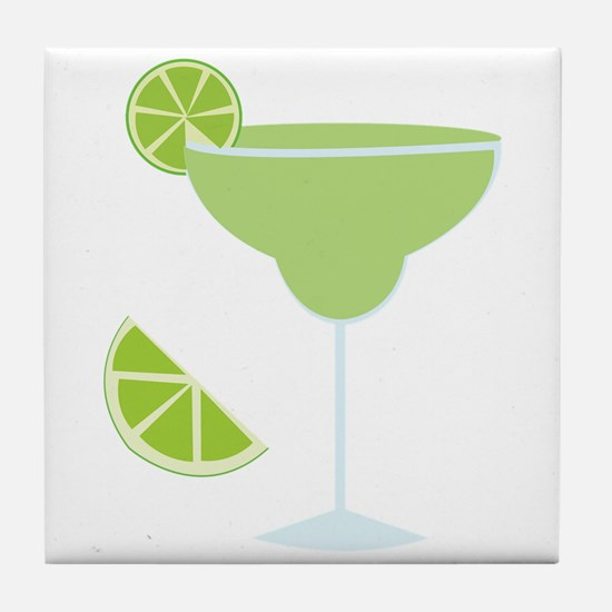 Lime Margarita Tile Coaster