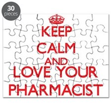 Keep Calm and love your Pharmacist Puzzle