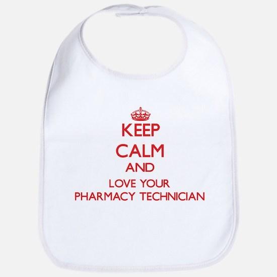 Keep Calm and love your Pharmacy Technician Bib
