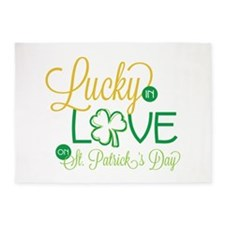 Love in St Patricks 5'x7'Area Rug