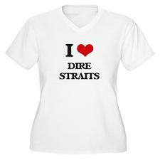 I Love Dire Straits Plus Size T-Shirt