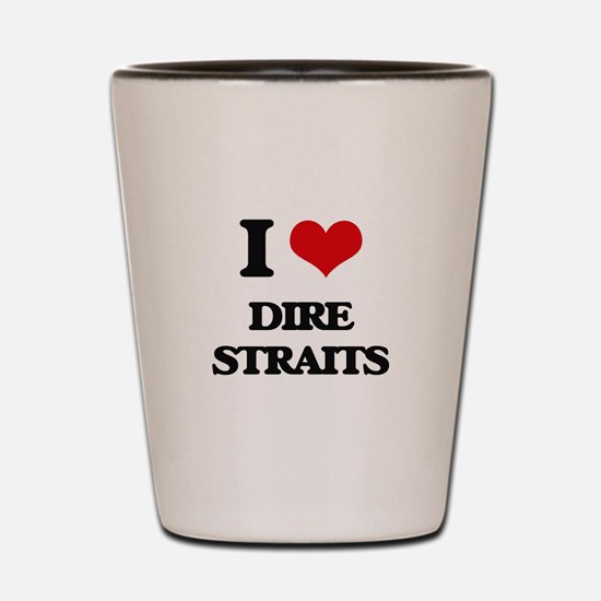 I Love Dire Straits Shot Glass