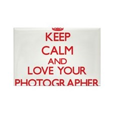 Keep Calm and love your Photographer Magnets