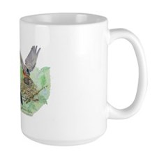 American robin nest with little one Mug