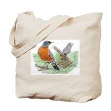 American robin nest with little one Tote Bag