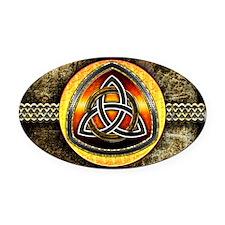 Celtic Shield by Bluesax Oval Car Magnet