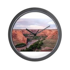 Canyon de Chelly, Arizona, USA at sunse Wall Clock
