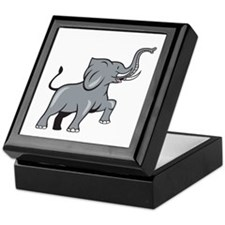 Elephant Marching Prancing Cartoon Keepsake Box
