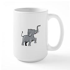 Elephant Marching Prancing Cartoon Mugs