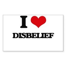I Love Disbelief Decal
